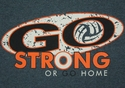 Go Strong Volleyball Design Dark Grey T-Shirt