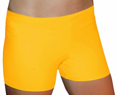 "Gold 2.5"" inseam Spandex Shorts w/ UV sunblock"