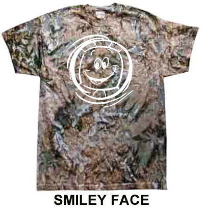 Green & Brown Camo Tie-Dye T-shirt - in 6 Volleyball Designs