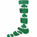 Green Shamrock Rugby Stripe Knee High Socks