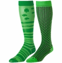 Green Shamrock & Weave Over-Calf KraziSox - 2 Color Options