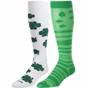 Green Shamrocks Over-Calf KraziSox - 2 Color Options