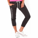 Dark Grey Heather Soffe Pocket Capris - Choice of 16 Sports on Leg or Rear