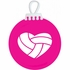 Heart Volleyball Tree Ornament