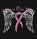 Heaven Can Wait Pink Ribbon Awareness T-Shirt - in 20 Shirt Colors