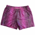 Hot Pink Snakeskin Spandex Shorts