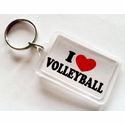 I Love Volleyball Acrylic Key Ring