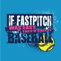 If Fastpitch Was Easy Design Turquoise Blue T-Shirt