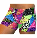 Jungle Safari Patchwork Spandex Shorts
