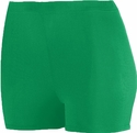 "Kelly Green 2.5"" Polyester / Spandex Compression Shorts"