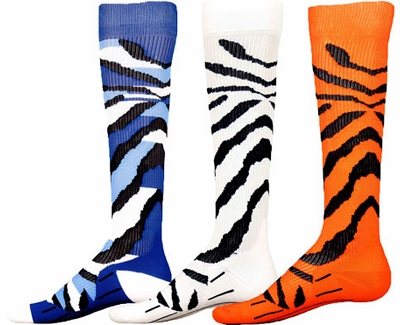 Tiger Stripe Sport Compression Socks - 3 Color Options