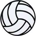 "Large 6"" Volleyball Magnet w/ Black Lines"