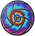 "Large 6"" Tie-Dye Blast Volleyball Magnets"