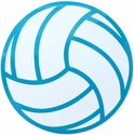 """Large 6"""" Volleyball Magnet w/ Blue Lines"""