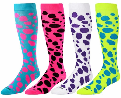 Leopard Spot Over-Calf KraziSox - 4 Color Options