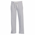Light Grey Ladies Fleece Sport Pants w/ Volleyball Printed on Leg