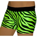 Lime Green Zebra Stripe Flip Band Spandex