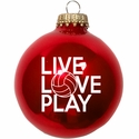 Live Love Play Volleyball Tree Ornament