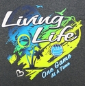 Living Life Design Long Sleeve Dark Grey Volleyball Shirt