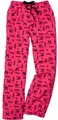 Cheer Love Pattern Cotton Flannel Lounge Pants
