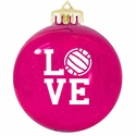 Love Volleyball Tree Ornament