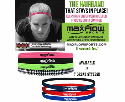 MaxFlow Cross-Grip Hairbands