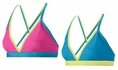 Mizuno Beach Magnus Hot Pink & Neon Blue Sport Bra Top