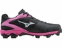 Mizuno Black & Pink 9-Spike Finch Franchise 6 Softball Shoes