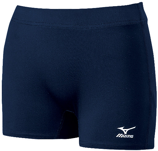 Mizuno Core Flat Front Spandex Shorts - in Black or Navy