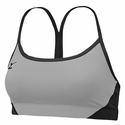 Mizuno Hybrid Grey & Black Sport Bra Top