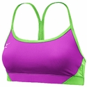 Mizuno Hybrid Purple & Lime Green Sport Bra Top