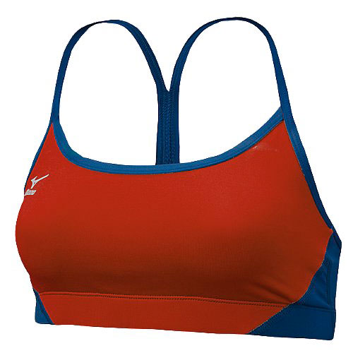 Mizuno Hybrid Red & Navy  Sport Bra Top