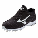 Mizuno Metal Cleated Black 9-Spike Advanced Sweep 2 Softball Shoe