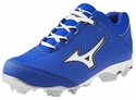 Mizuno Molded Royal & White 9-Spike Finch Elite Softball Shoe