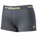 Mizuno MRB Charcoal & Lemon Flip-Band Practice Spandex Shorts
