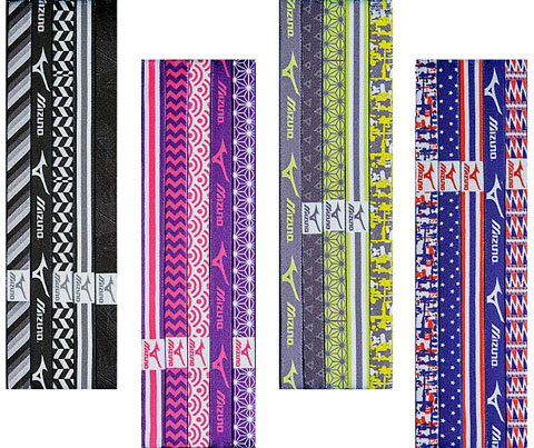 Mizuno Triumph Non-Slip Headbands - 5 Pack - in 4 Color Schemes
