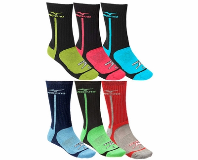 Mizuno Performance Highlighter Crew Socks - 5 Color Options