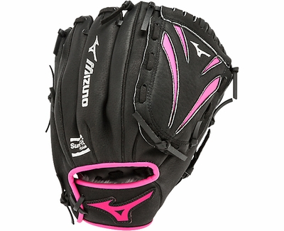 "Mizuno Prospect Finch Fastpitch 10"" Black & Pink 2016 Softball Glove"