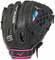 "Mizuno Prospect Finch Fastpitch 11"" Black & Pink 2017 Softball Glove"