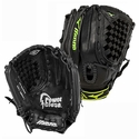 "Mizuno Prospect Youth Fastpitch 12.5"" Black & Green Softball Glove"
