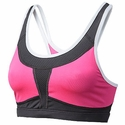 Mizuno Smash Hot Pink & Charcoal Grey Athletic Sport Top