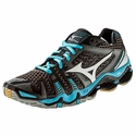 Mizuno Wave Tornado 8 Women's Black & Powder Blue Volleyball Shoes
