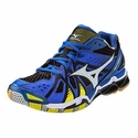 Mizuno Wave Tornado 9 Men's Dazzling Blue, Bolt, & White Volleyball Shoes