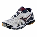Mizuno Wave Tornado 9 Men's White & Navy Volleyball Shoes
