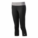 Mizuno Women's Beach Mid Tight in Black / Grey