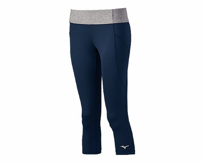 Mizuno Women's Beach Mid Tight in Navy / Gray