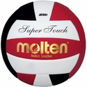 Molten Black-White-Red Super Touch Volleyball w/ H.S. Stamp