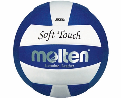 Molten Blue-White Soft Touch Volleyball w/ H.S. Stamp
