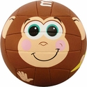 Molten Brown Monkey Smiley Face Mini Volleyball
