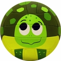 Molten Green Turtle Smiley Face Mini Volleyball